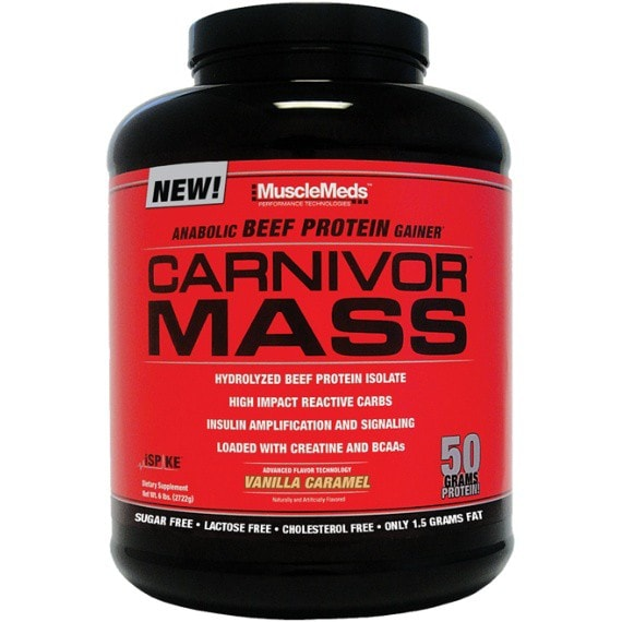 MuscleMeds Carnivor Mass 2.5kg / Chocolate Fudge Protein  www.nutri4u.co.uk - 1