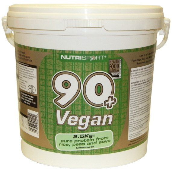 Nutrisport 90+ Protein Vegan 2.5kg (62 Servings) / Unflavoured Protein  www.nutri4u.co.uk - 1