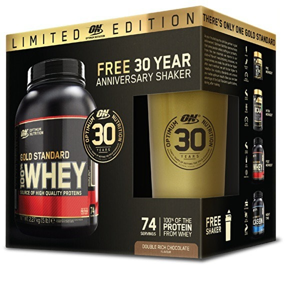 Optimum Nutrition Gold Standard 100% Whey Limited Edition Box Set with Shaker 2.27kg / Double Chocolate Protein  www.nutri4u.co.uk