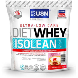 USN Diet Whey Isolean 1kg / Cherry Bakewell Protein  www.nutri4u.co.uk - 1