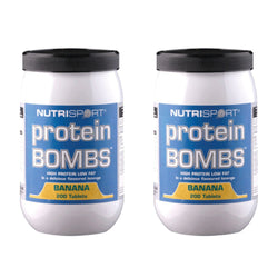 Nutrisport Protein Bombs 200 Tablets (40 Servings) / Banana Protein  www.nutri4u.co.uk