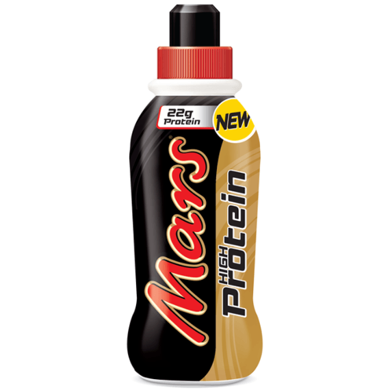 Mars High Protein Drink 1 x 376ml Bottle / Chocolate Caramel Protein  www.nutri4u.co.uk - 1