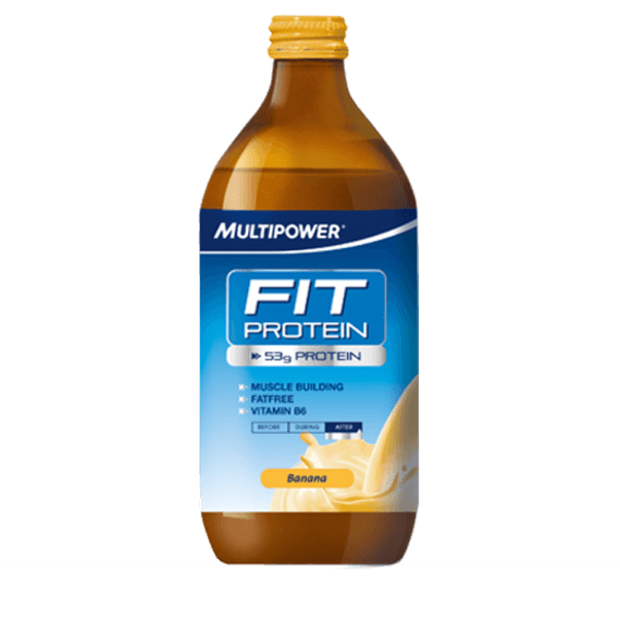 MultiPower Fit Protein 1 x 500ml / Banana Protein  www.nutri4u.co.uk - 1