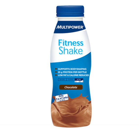 MultiPower Fitness Shake 1 x 300ml / Chocolate Protein  www.nutri4u.co.uk - 1