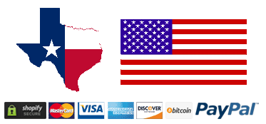 American Flag Texas Flag Payment Icons