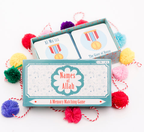 Names of Allah - A Memory Matching Game PRE-ORDER FOR RAMADAN - Anafiya Gifts