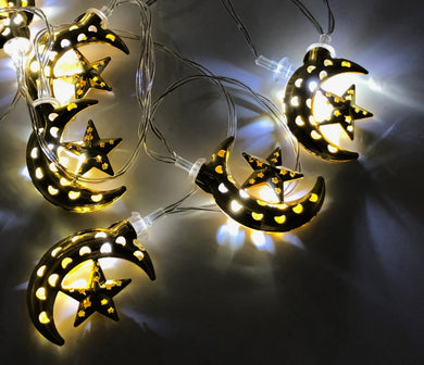 Crescent and Star Lights - Gold - Anafiya Gifts
