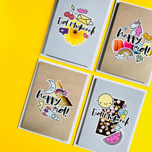 Load image into Gallery viewer, Doodle Bug Mini Eid Cards - 8 Pack - Anafiya Gifts