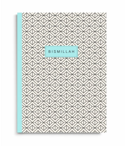 PerfectBound Geo Bismillah Blue Notebook - Anafiya Gifts