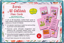 Load image into Gallery viewer, Surah Al-Fatihah Flash Cards - Anafiya Gifts