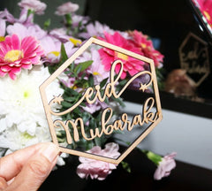 Eid Mubarak Laser Cut Ornaments - Pack of 4 - Anafiya Gifts