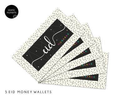 Eid Mubarak Money Wallets Sprinkle - 5 Pack