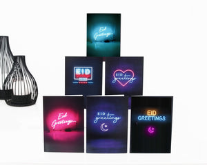 Eid Cards - 6 Pack - Neon