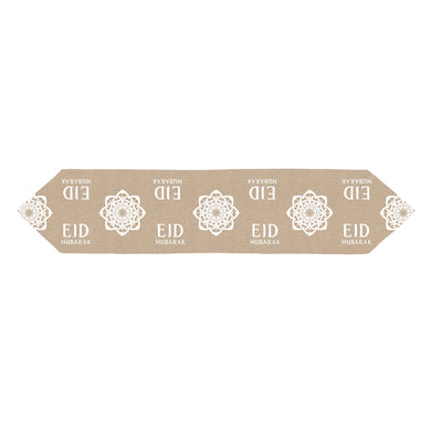 Eid Flower Hessian Table Runner 1.5m - Anafiya Gifts