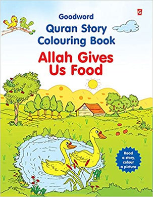 Allah Gives Us Food Colouring Book - Anafiya Gifts