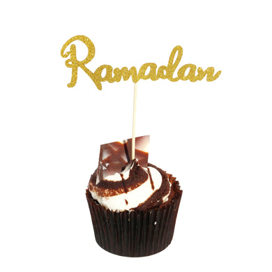 Ramadan Cocktail Sticks - Gold Glitter - Anafiya Gifts