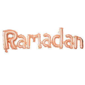 Ramadan Joined Foil Balloons - Rose Gold - Anafiya Gifts