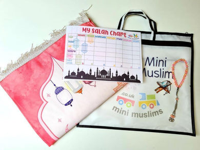 Prayer Mat Gift Set - Pink Mosque