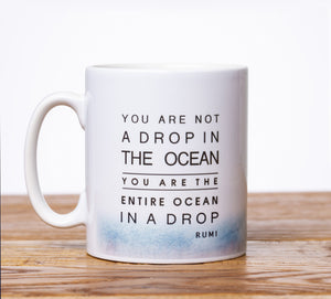 Rumi 'Drop in the Ocean' Mug - Anafiya Gifts