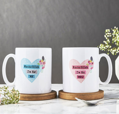Mr & Mrs Mug Set - Anafiya Gifts