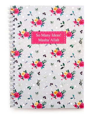 So Many Ideas! MashaAllah Floral Notebook - Anafiya Gifts