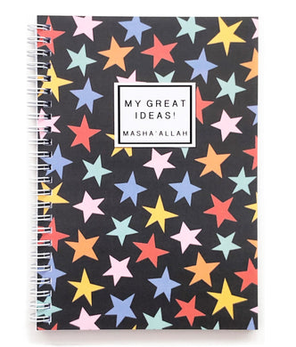 My Great Ideas! MashaAllah Notebook - Anafiya Gifts