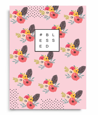 #Blessed Floral Notebook - Anafiya Gifts