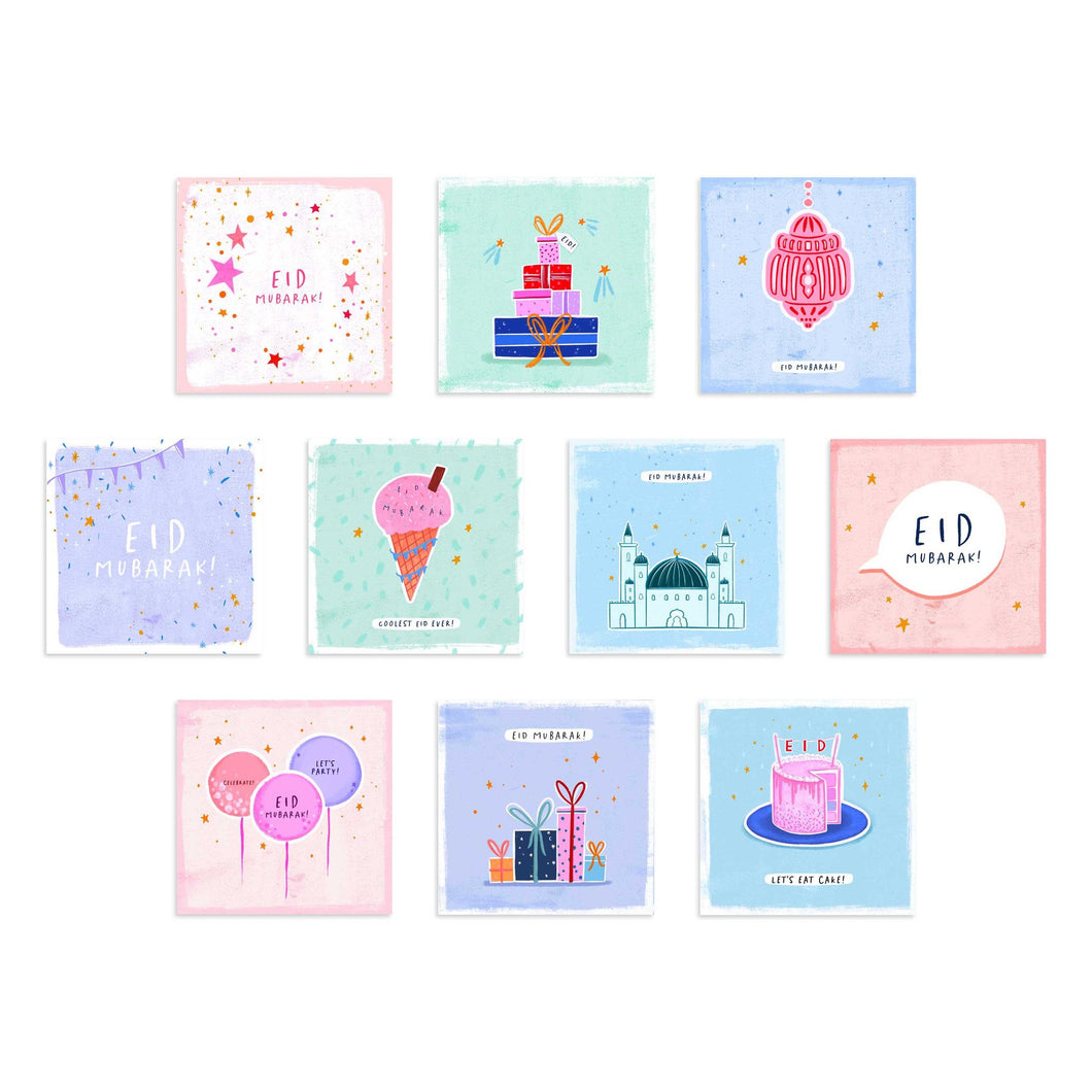 Eid Square Cards - 10 Pack