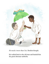 Load image into Gallery viewer, The Green Dinosaur Umbrella: A Hajj Story