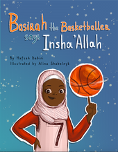 Load image into Gallery viewer, Basirah the Basketballer says Insha'Allah - Anafiya Gifts