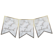 Load image into Gallery viewer, Eid Banner - Marble and Gold - Anafiya Gifts