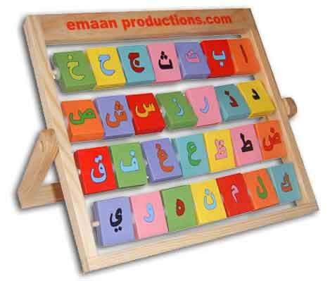 Arabic/English Alphabet Frame - Anafiya Gifts