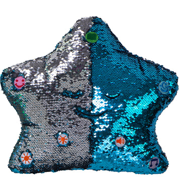 My Dua Pillow - Blue & Silver Sequins