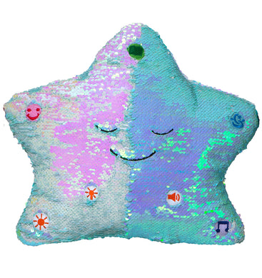 My Dua Pillow - Blue & Pearl Sequins