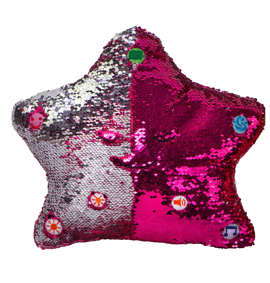 My Dua Pillow - Pink & Silver Sequins