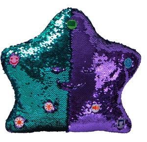 My Dua Pillow - Purple & Turquoise Sequins