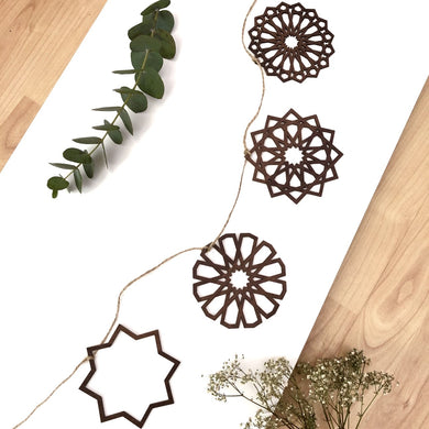 Laser Cut Wooden Hanging Ornaments Bunting Kit - Anafiya Gifts