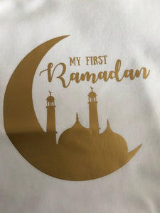 My First Ramadan Baby Vest - Gold Crescent - Anafiya Gifts
