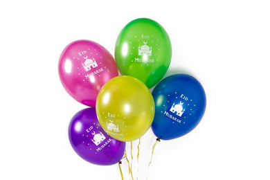 Eid Mubarak Masjid Balloons - Multi Coloured - Anafiya Gifts