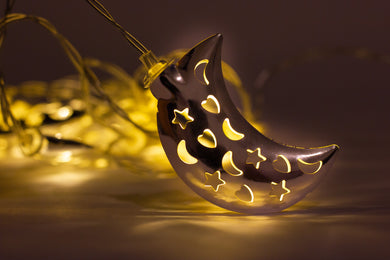 Crescent Moon Lights - Silver - Anafiya Gifts