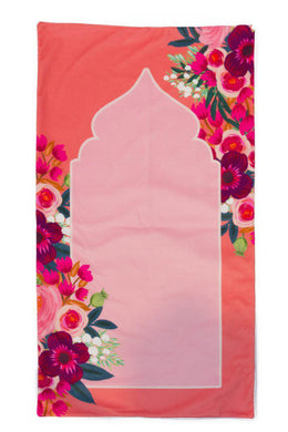 Pink Floral Prayer Mat - Anafiya Gifts