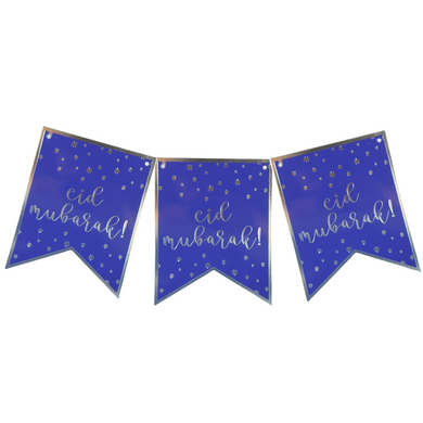 Eid Banner - Navy and Silver