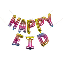 Load image into Gallery viewer, Rainbow Happy Eid Foil Balloons