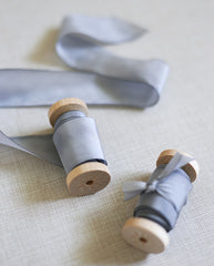 silk ribbon in light blue