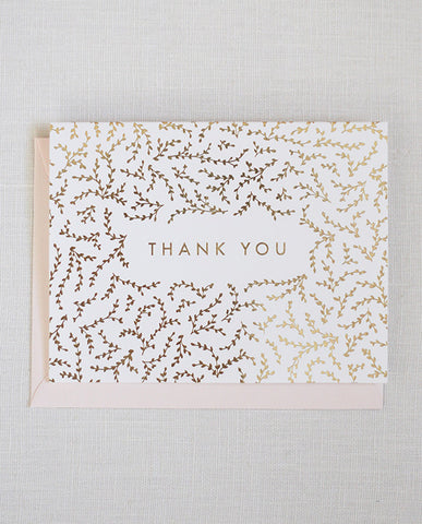 garland thank you card