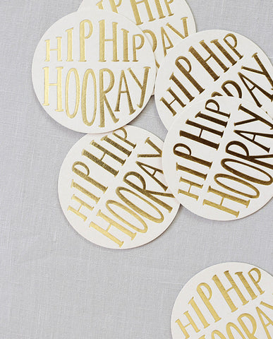 gold foil coasters