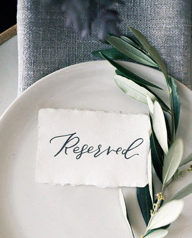 calligraphy reserved cards