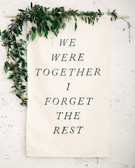 we were together backdrop
