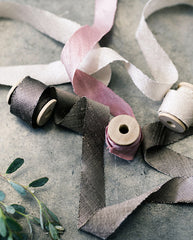 silk ribbon in coffee