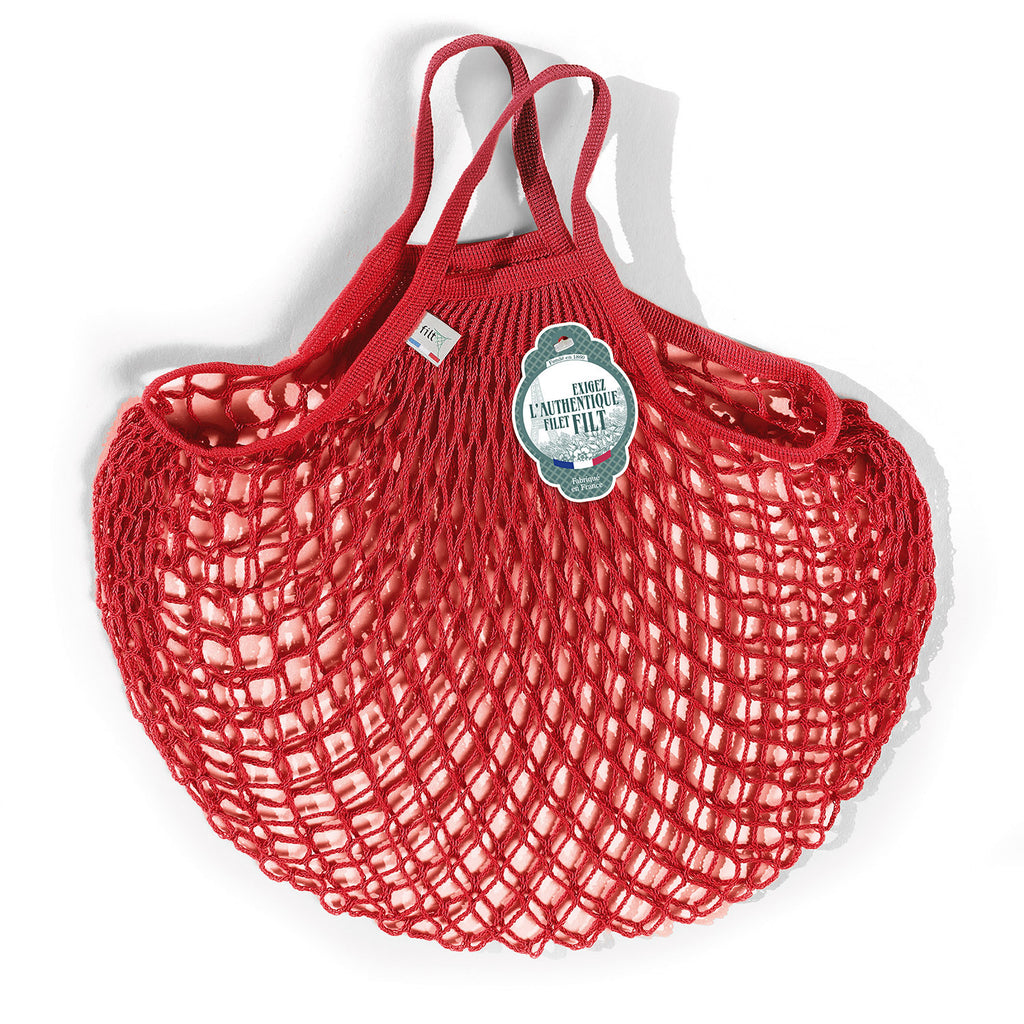 Filt French Net Market Bag - Coral Red